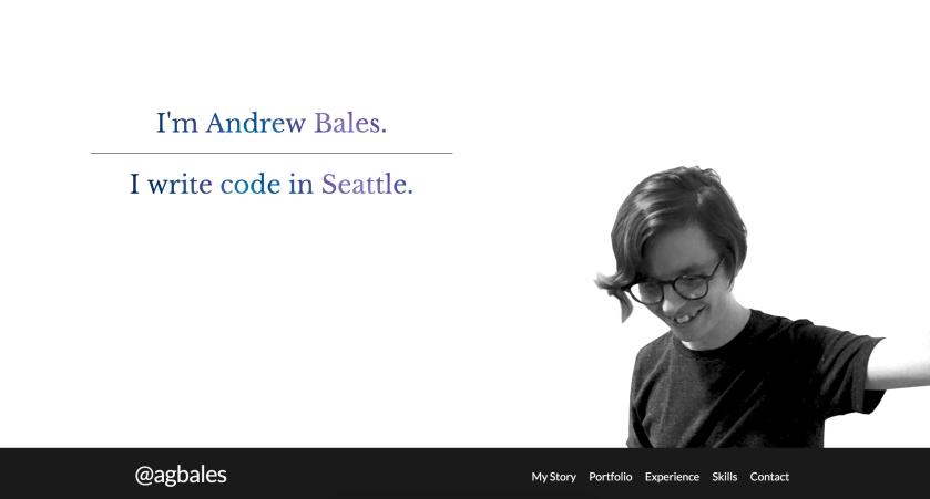 Andrew Bales GitHub portfolio